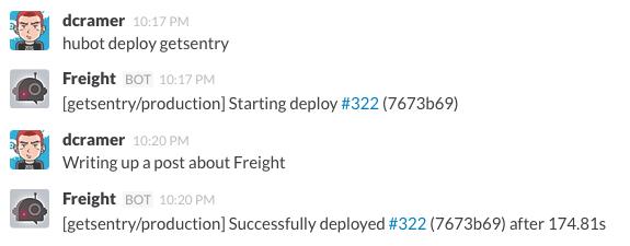 Freight Hubot Integration