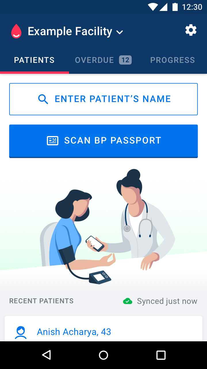 Simple app Blood Pressure (BP) Passport from Resolve to Save Lives