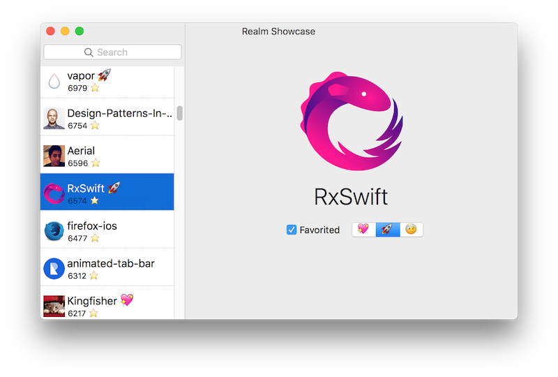 Mac app powered by Realm