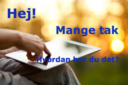 Learn Danish Online with a tablet or smartphone
