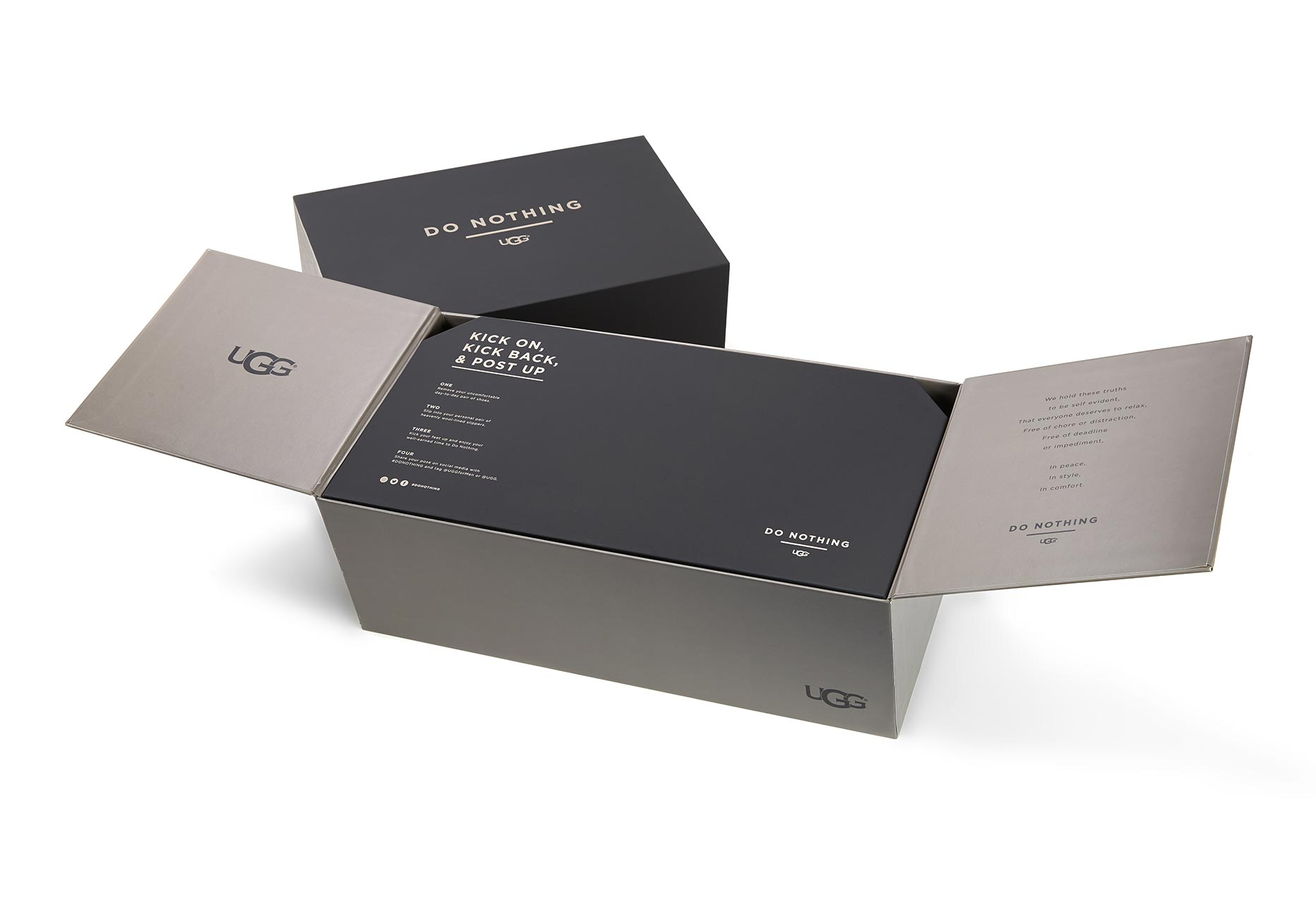 "An UGG ""Do Nothing"" Slippers box"