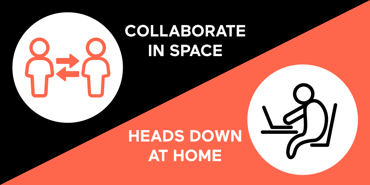Collaborate in Space, Heads Down at Home