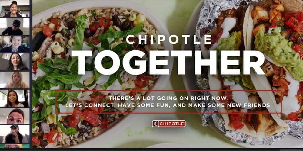Chipotle Together video chat screen