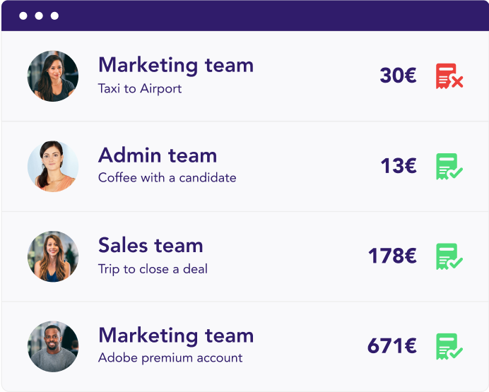 Spendesk teams visibility