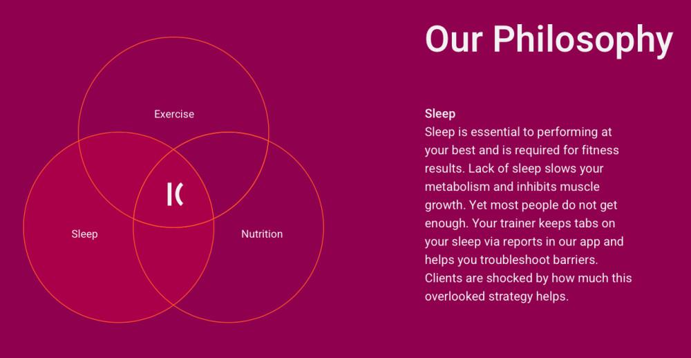Kickoff Training Sleep Philosophy