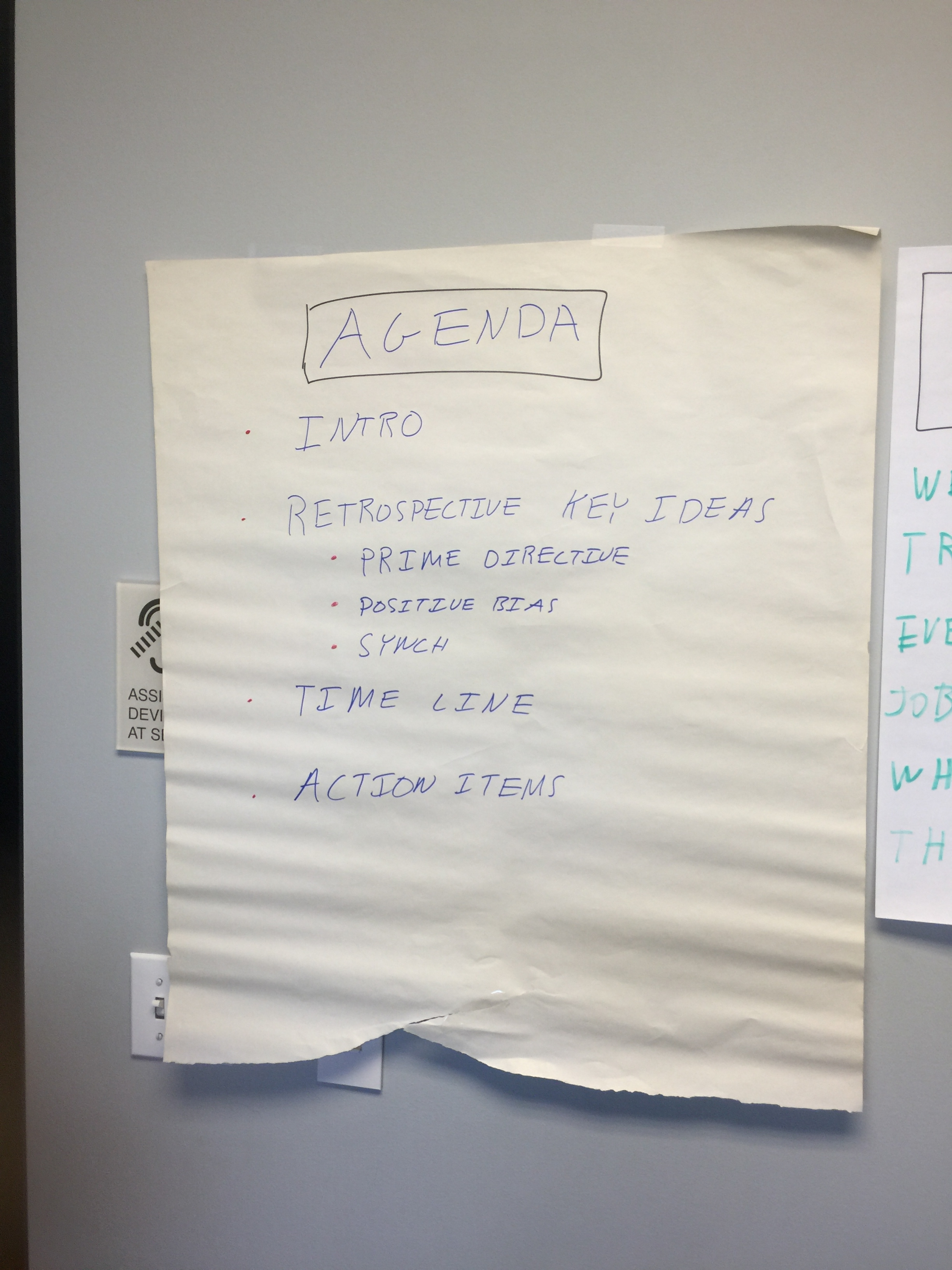 Timeline Retrospective - Agenda