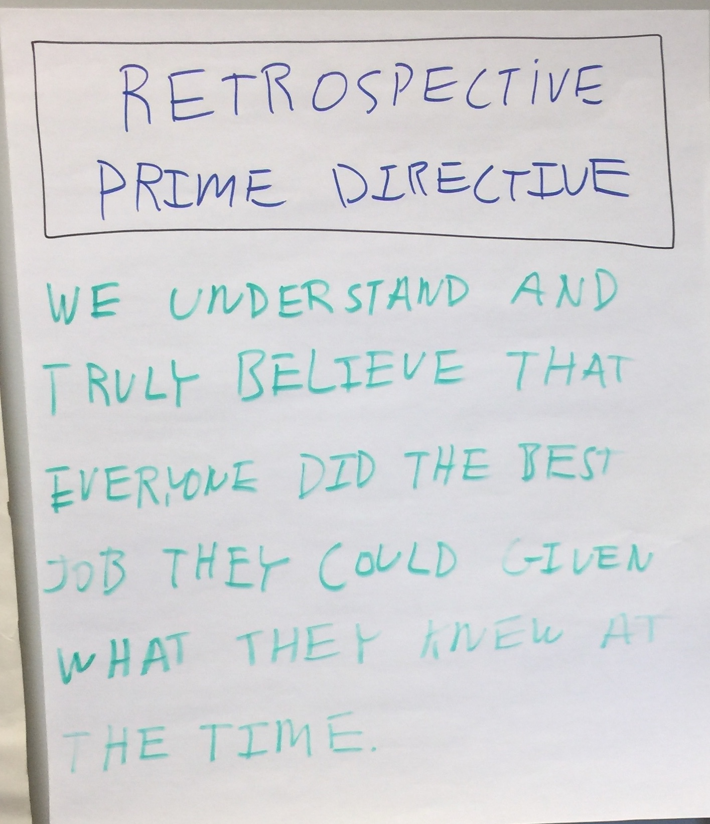 Timeline Retrospective - Prime directive