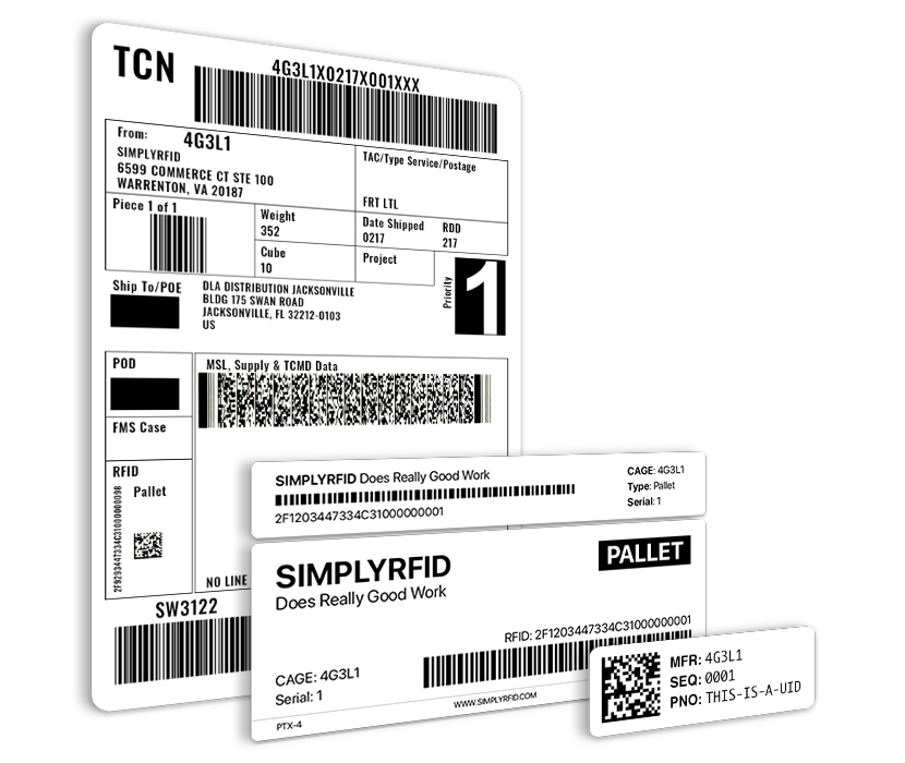 MSL, RFID, and UID Labels