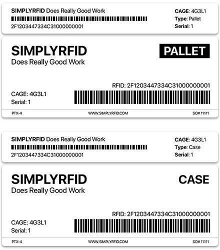 DoD RFID Case and Pallet RFID Tags