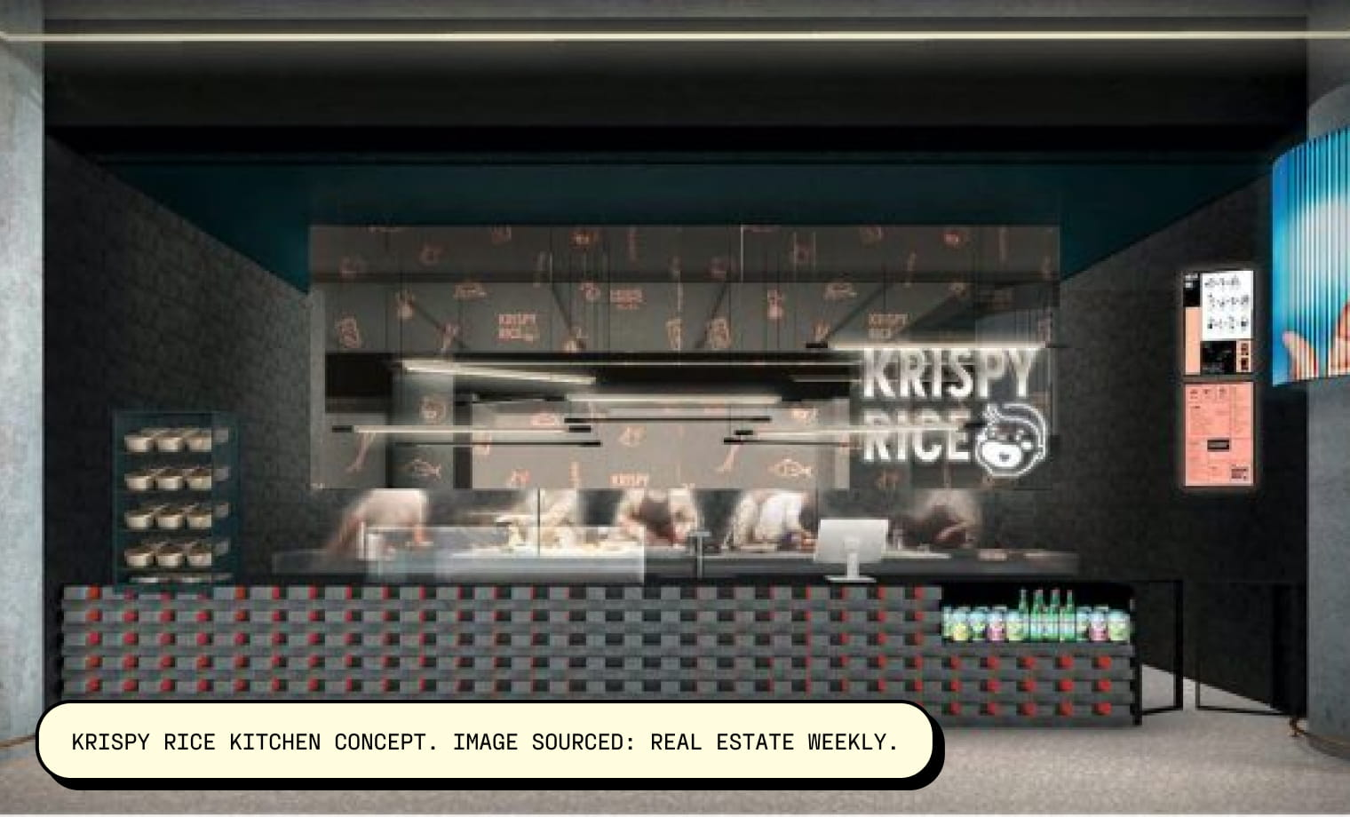 Krispy Rice Kitchen Concept. Image Sourced: Real Estate Weekly.