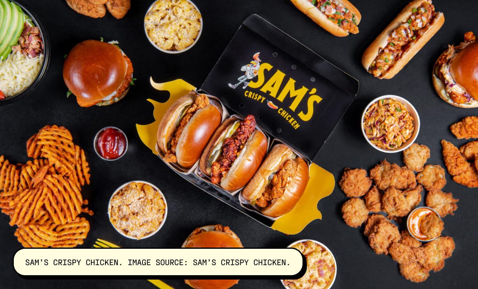 Sam's Crispy Chicken. Image Source: Sam's Crispy Chicken.