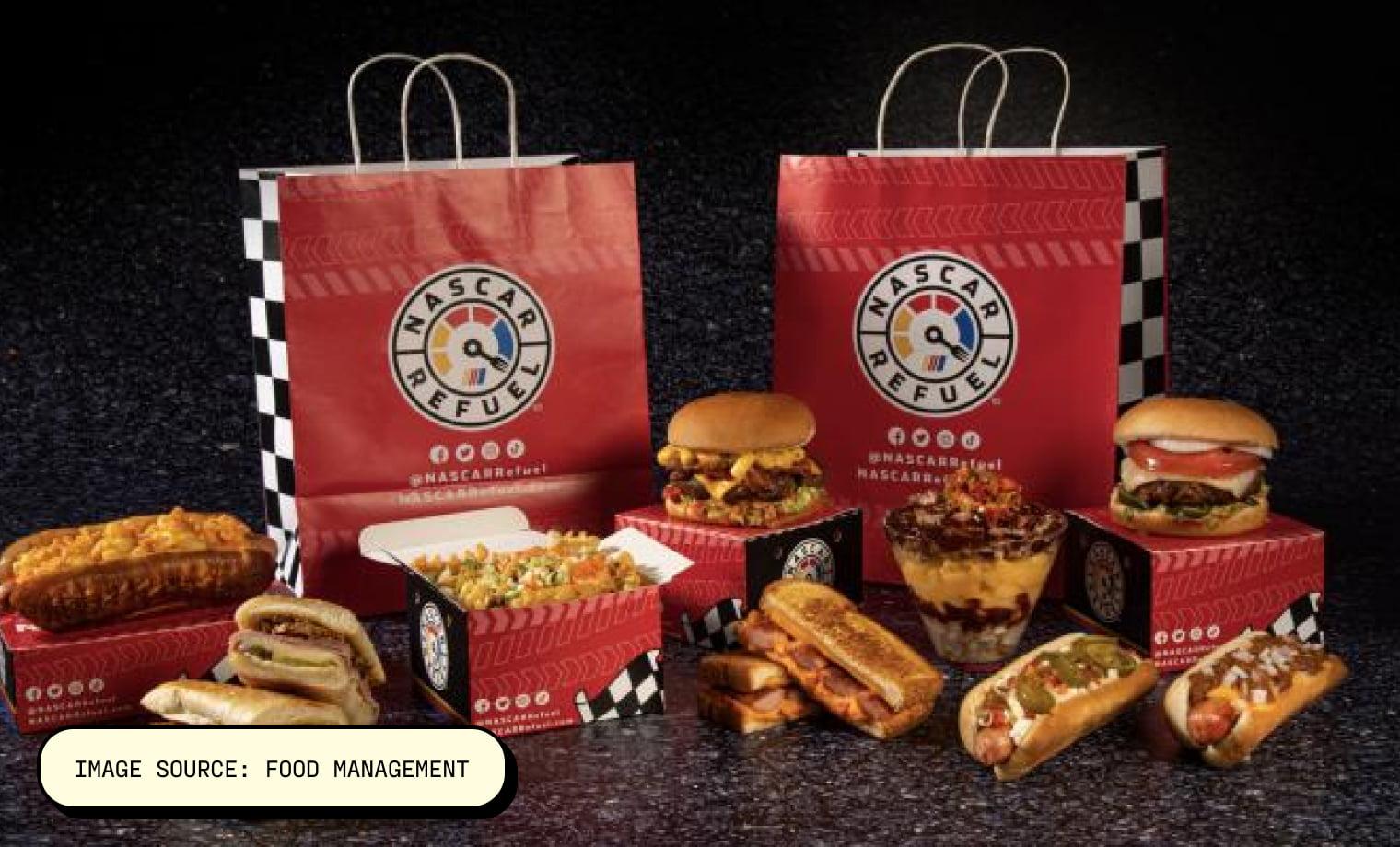 NASCAR Refuel Image Source: Food Management