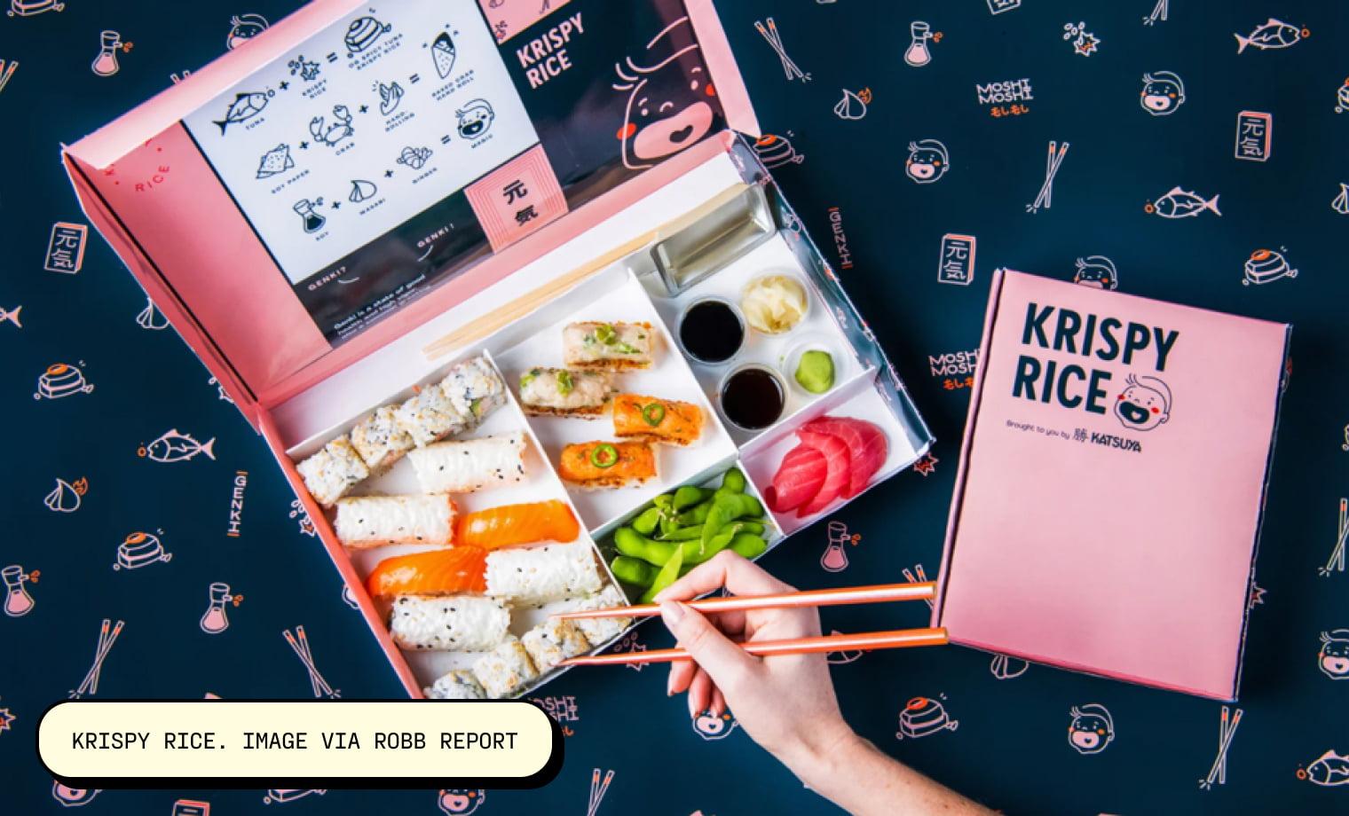 Krispy Rice. Image via Robb Report