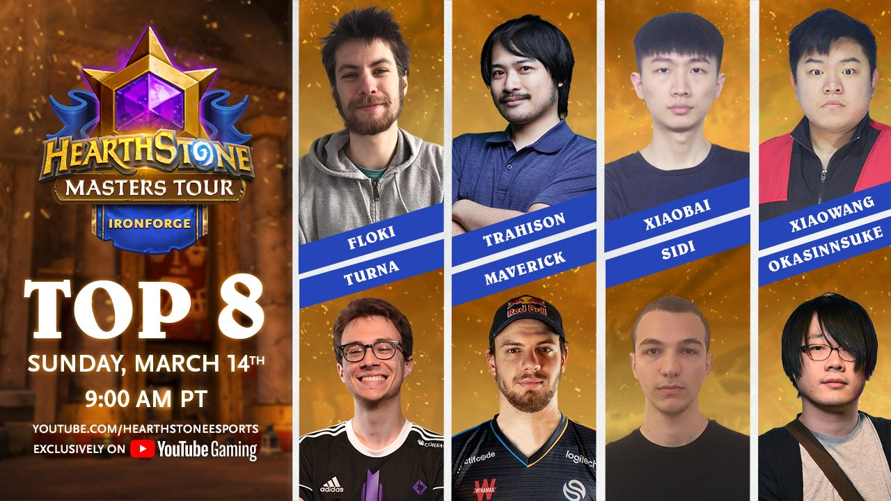 Hearthstone Masters Tour Ironforge top 8
