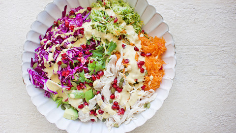 Jess Sepel's healthy rainbow salad recipe