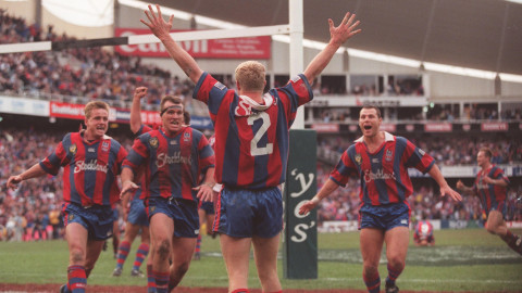 The Newcastle Knights winning the 97 Grand Final