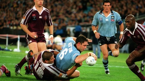 Freddy Fittler scoring try at State of Origin