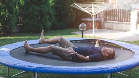Man injured by trampoline deciding which hospital to go to