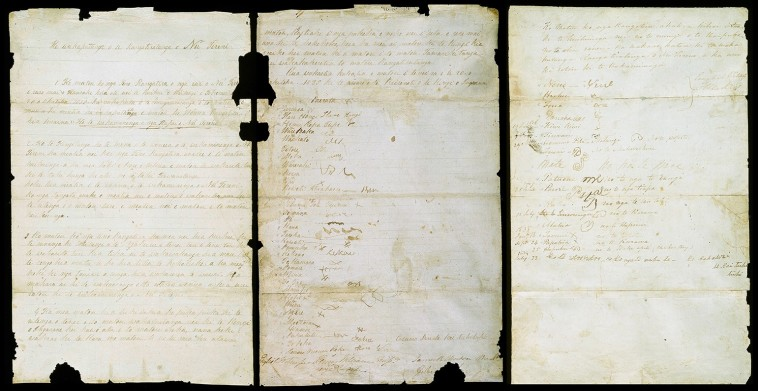 Photo of He Whakaputanga o te Rangatiratanga o Nu Tireni - the New Zealand declaration of independence
