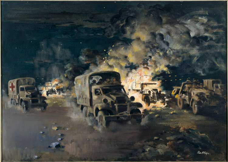 "Peter McIntyre ""The breakthrough, Minqar Qa'im, 27-28 June 1942"