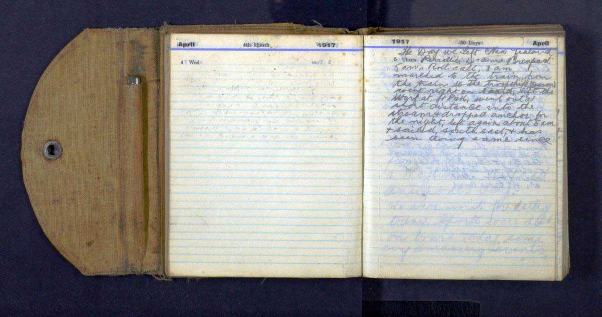 Alexander Mee's War Diary 4 and 5 April 1917