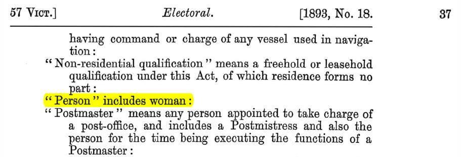 snippet of electoral act 1893