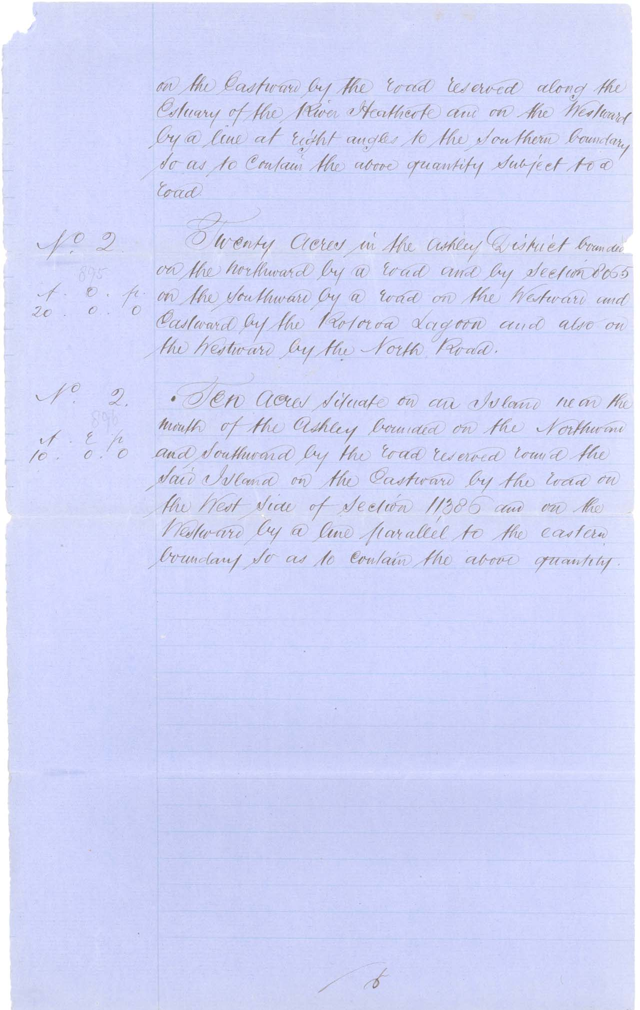Descriptions - Kaiapoi Reserves Awarded in 1868 - Page 6