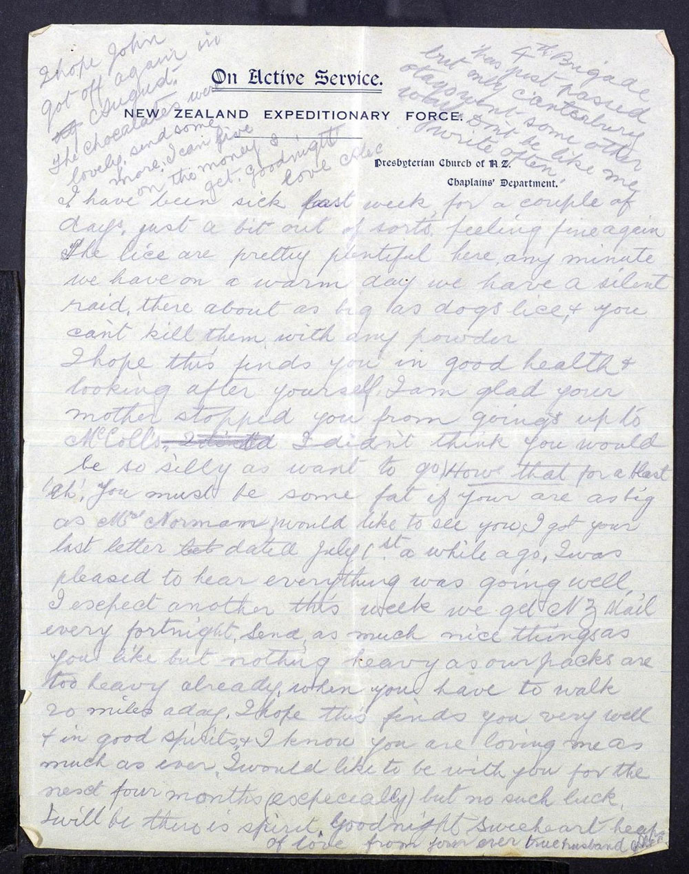 Alexander Mee's Letters to Jessie - 31 August 1917 - Page 3