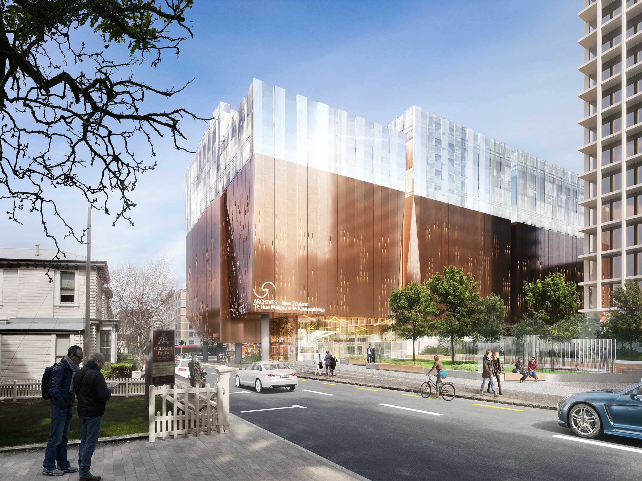 Concept image showing the new Archives NZ building
