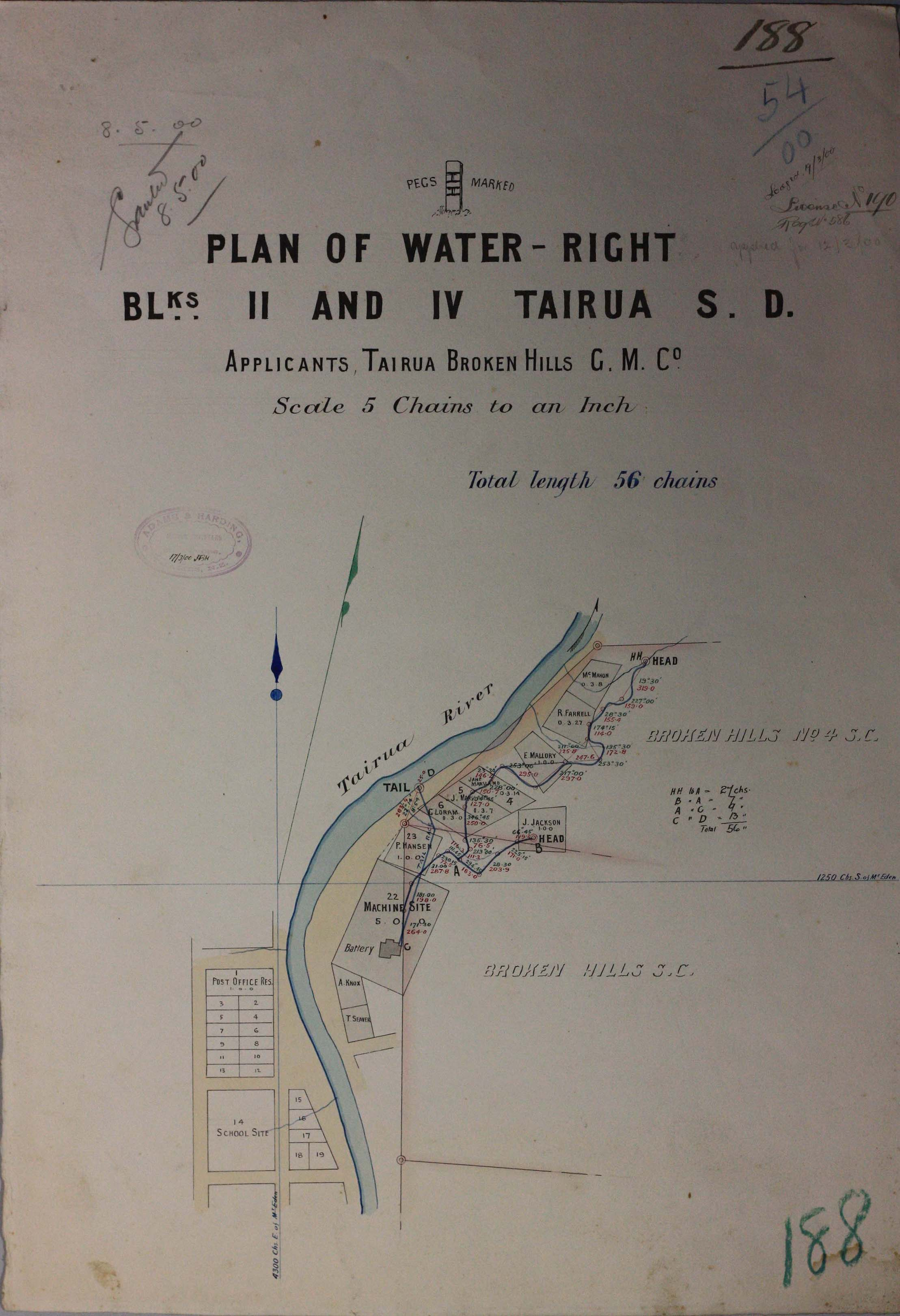 Plan showing Tairua River