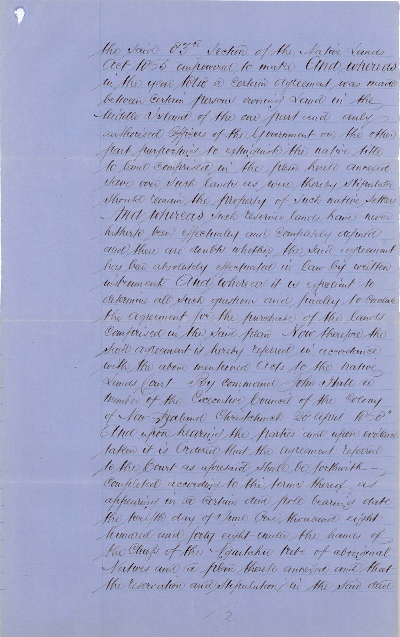 Descriptions - Taumutu Reserves awarded in 1868 - Page 2