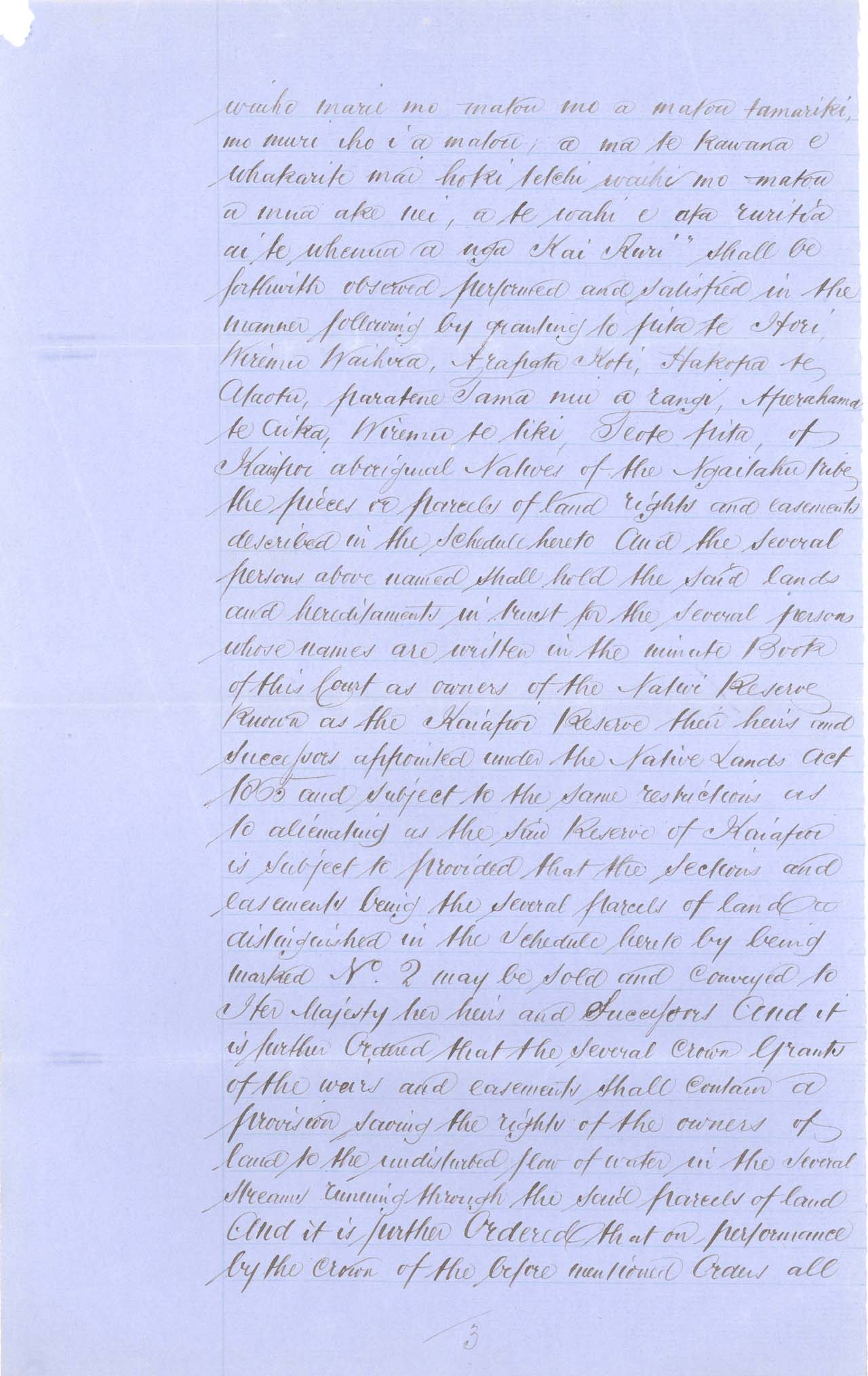 Descriptions - Kaiapoi Reserves Awarded in 1868 - Page 3