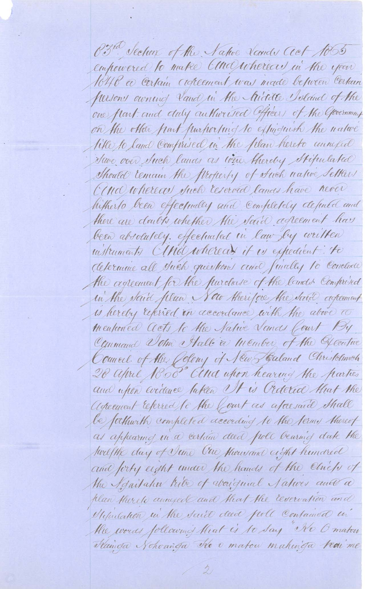 Descriptions - Kaiapoi Reserves Awarded in 1868 - Page 2