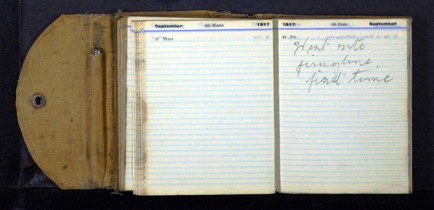 Alexander Mee's War Diary Dated Friday, 28 September 1917