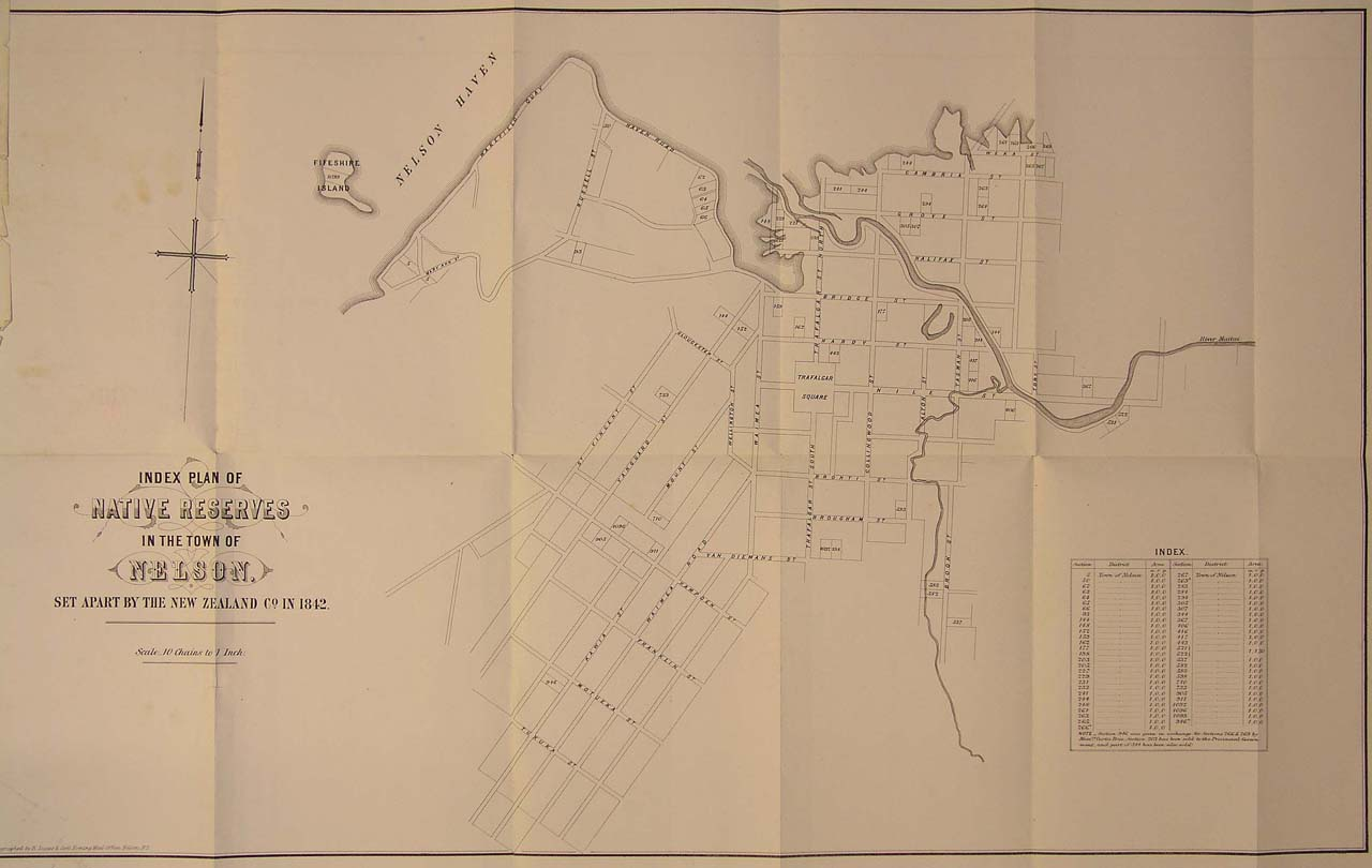 Map of Reserves, Nelson - 1870