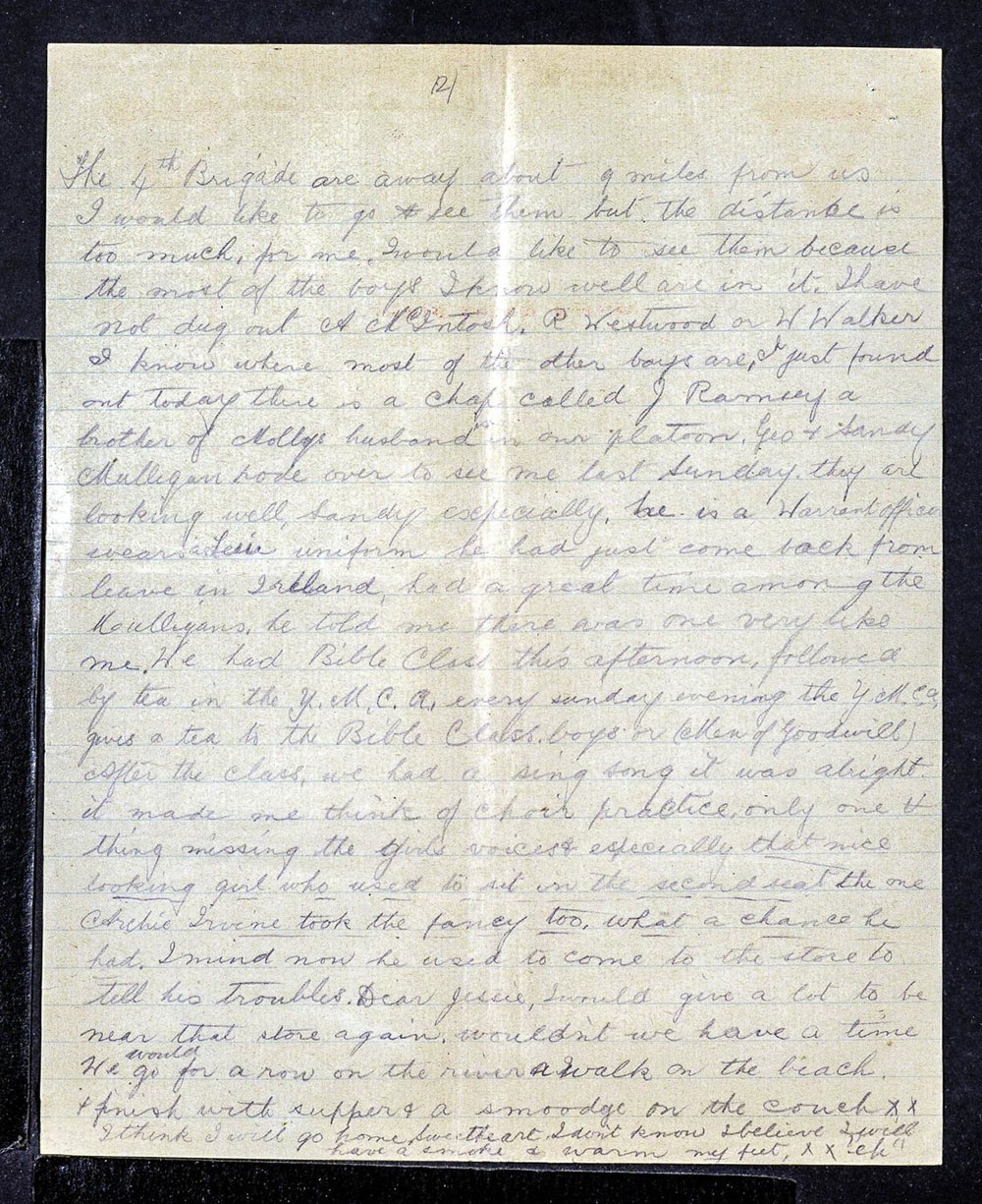 Alexander Mee Letters to Jessie - 23 September 1917 - Page 2