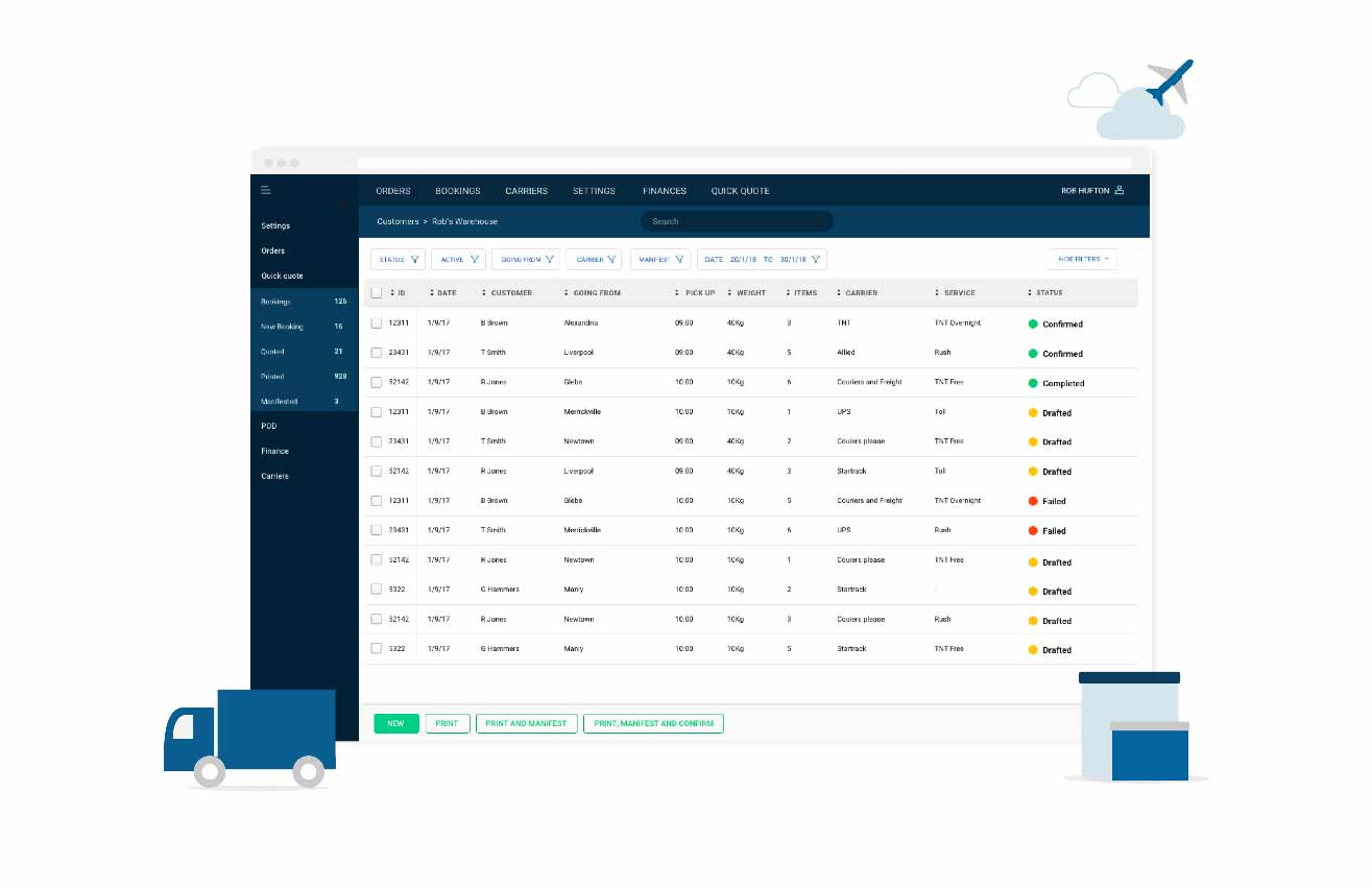 Freight booking software | Logistics software
