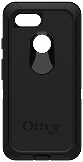 Black OtterBox Pixel 3 Defender Case Back