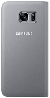 Silver Samsung S View Cover - Galaxy S7 Back View