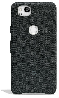 Carbon Google Fabric Case (Pixel 2) Back View