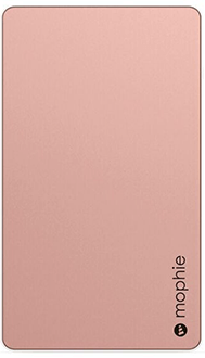 Rose Gold Mophie Powerstation (6,000mAh) - Front View