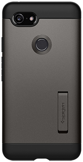 Gun Metal Spigen Slim Armor Pixel 3 Case Back