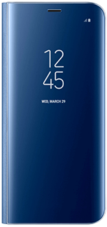Blue Samsung Clear View Standing Cover - Galaxy S8 Front View