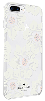 Hollyhock Floral kate spade Protective Hardshell - iPhone 6 Plus/6s Plus/7 Plus/8 Plus Case Right Angled View