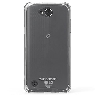 Clear PureGear Hard Shell - LG X Power 2 Case Back View