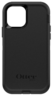 Black OtterBox iPhone 12 Mini Defender Case from the Back