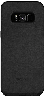 Black Mophie Charge Force Bundle - Samsung Galaxy S8 - Back View