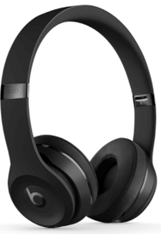 Black Beats Solo3 Headphones Angled Front View