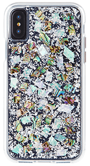 Mother of Pearl Case-Mate Karat - iPhone X Case Back View