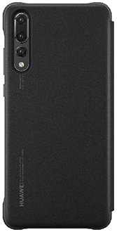 Black Huawei P20 Pro Smart View Flip Cover Back